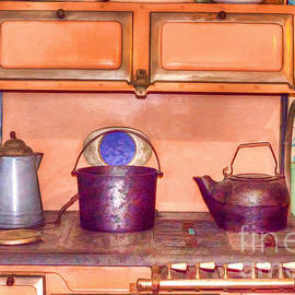 What's For Dinner - Vintage Stove by L Wright