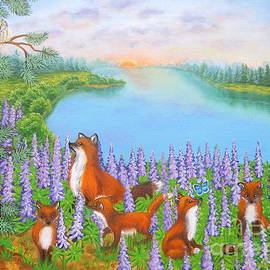Where Bloom Lupines by Loreta Mickiene