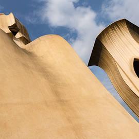 Georgia Mizuleva - Whimsical Chimneys - Antoni Gaudi Smooth Shapes and Willowy Curves - Left