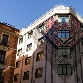 Whimsical Madrid - a Building Draped in Traditional Spanish Mantilla