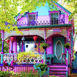 Whimsical Cotton Candy House by Barbara McMahon