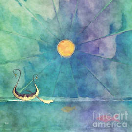 Whimsical Seascape Abstract Painting Ocean Venture By L Wright by L Wright