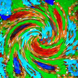 Whirlwind - Abstract Art by Carol Groenen