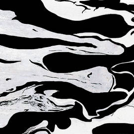 White Black Modern Art  by Julia Fine Art And Photography