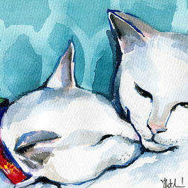 White Cat Affection by Dora Hathazi Mendes