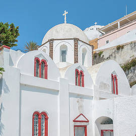 Antony McAulay - White Church at Fira
