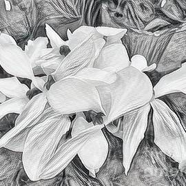 Luther Fine Art - White Flower Sketch
