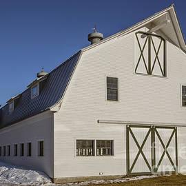 White horse barn in Vermont - Edward Fielding