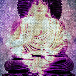 White Lotus Buddha - Purple by Absinthe Art By Michelle LeAnn Scott