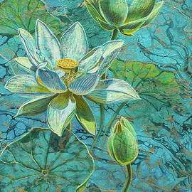Fiona Craig - White Lotuses on Marbled Lake