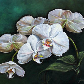 White Orchids by Joan Garcia