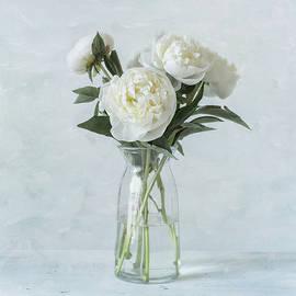 White Peony Bouquet by Kim Hojnacki