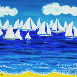 White regatta 3 by Irina Afonskaya