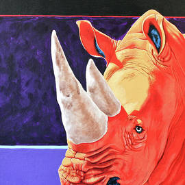 White Rhino by Keith Alway