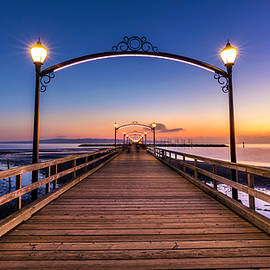 White Rock Pier at Dusk by Pierre Leclerc Photography