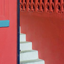 White Staircase Venice Beach California by David Smith