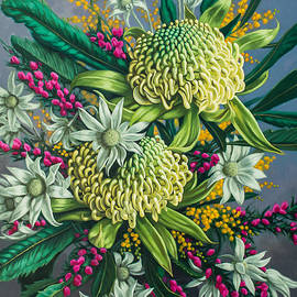 Fiona Craig - White Waratahs and Boronia