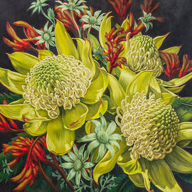 Fiona Craig - White Waratahs Flannel Flowers and Kangaroo Paws 3