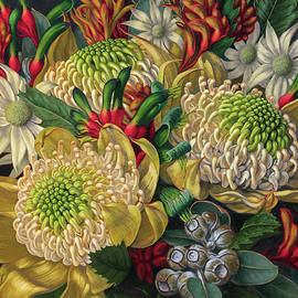 Fiona Craig - White Waratahs Flannel Flowers and Kangaroo Paws