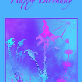 Wild Flowers Birthday Card by Judi Suni Hall