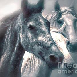 KaFra Art - Wild Horses In The Misty Moonlight