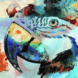 Sharon Cummings - Wild Parrot Art by Sharon Cummings