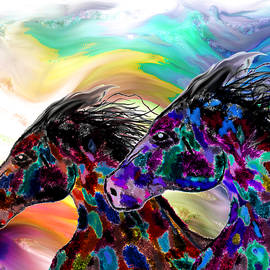 Abstract Angel Artist Stephen K - Wild Wild Horses