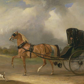 William Massey-Stanley driving his Cabriolet in Hyde Park - John Ferneley