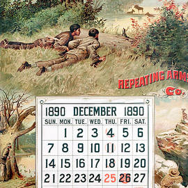 1890 Winchester Repeating Arms And Ammunition Calendar - Unknown