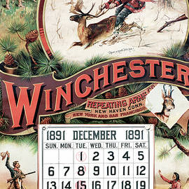 1891 Winchester Repeating Arms And Ammunition Calendar - Fredrick Remington