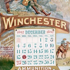 1892 Winchester Repeating Arms And Ammunition Calendar - Fredrick Remington