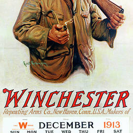 1913 Winchester Repeating Arms And Ammunition Calendar - Robt Robinson
