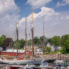 Windjammers In Camden Harbor by Susan Cole Kelly