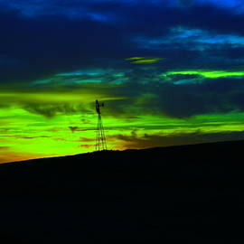 Windmill at sundown by Jeff Swan