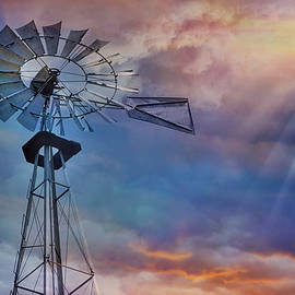 Windmill At Sunset by Susan Candelario