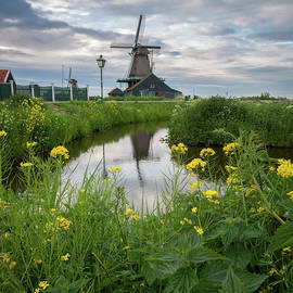 Windmill At Zaanse Schans by James Udall