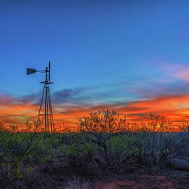 Luis A Ramirez - Windmill, Mesquite, Sunrise
