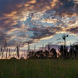 Windmill Sunset by Bill Wakeley