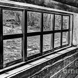 Window From An Old Old House In Black And White by Kay Brewer