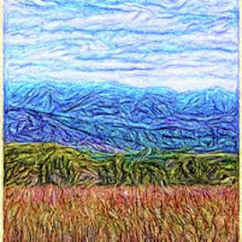 Window Of A Blue Mountain Dream - Triptych