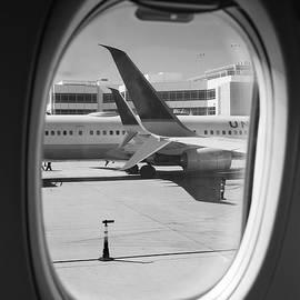 Window Seat Denver B W by Steve Gadomski