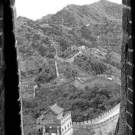 Window View of the Great Wall by Birgit Moldenhauer