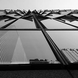 Rob Hans - Windows And Reflections Of One W T C  B W