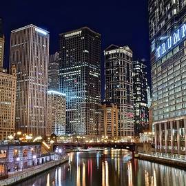 Frozen in Time Fine Art Photography - Windy City Lights on the River