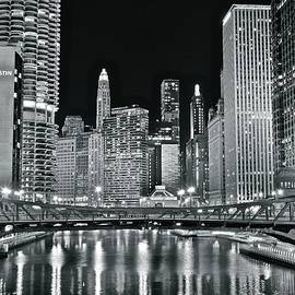 Frozen in Time Fine Art Photography - Windy City Lights Up Brightly