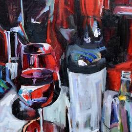 Wine Abstract by Donna Tuten