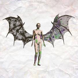 Winged Vixen Pop Art by Mary Bassett - Mary Bassett