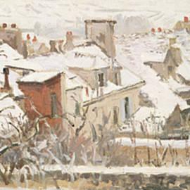 Winter, 1872  by Camille Pissarro