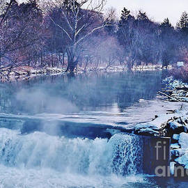 Winter At The Grist Mill River by D Hackett