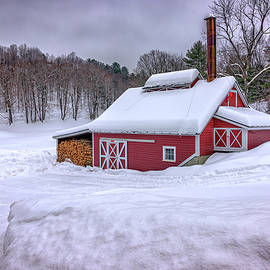 Winter at the Maple Sugar Shack - Rick Berk